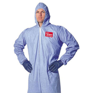 ESDUPTM127S2XL - Tempro Elastic-Cuff Hooded Coveralls, Blue, 2x-Large, 25-carton