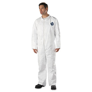 ESDUPTY120S3XL - Tyvek Coveralls, Open Wrist-ankle, Hd Polyethylene, White, 3x-Large, 25-carton