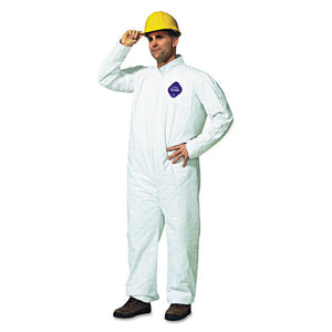 ESDUPTY120SL - Tyvek Coveralls, Open Wrist-ankle, Hd Polyethylene, White, Large, 25-carton