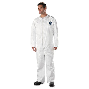 ESDUPTY120SXL - Tyvek Coveralls, Open Wrist-ankle, Hd Polyethylene, White, X-Large, 25-carton