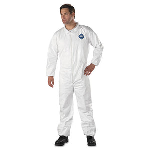ESDUPTY125SL - Tyvek Elastic-Cuff Coveralls, Hd Polyethylene, White, Large, 25-carton