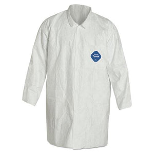 ESDUPTY212SM - Tyvek Lab Coat, White, Snap Front, 2 Pockets, Medium, 30-carton
