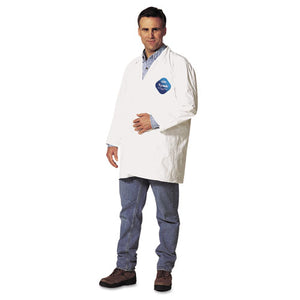 ESDUPTY212SXL - Tyvek Lab Coat, White, Snap Front, 2 Pockets, X-Large, 30-carton