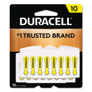 ESDURDA10B16ZM10 - HEARING AID BATTERY, #10, 16-PACK