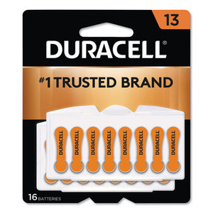 ESDURDA13B16ZM09 - HEARING AID BATTERY, #13, 16-PACK