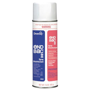 ESDVO04832 - End Bac Ii Spray Disinfectant, Unscented, 15 Oz Aerosol, 12-carton