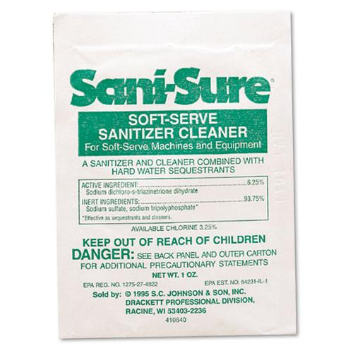 ESDVO90234 - Sani Sure Soft Serve Sanitizer & Cleaner, Powder, 1 Oz. Packet