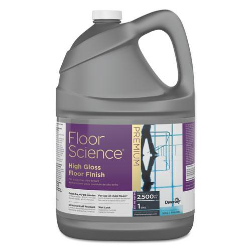 ESDVOCBD540410 - FLOOR SCIENCE PREMIUM HIGH GLOSS FLOOR FINISH, CLEAR SCENT, 1 GAL CONTAINER,4-CT