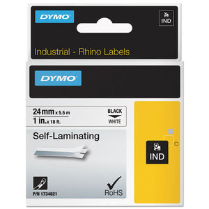 "ESDYM1734821 - Industrial Self-Laminating Labels, 1"" X 18 Ft, White"