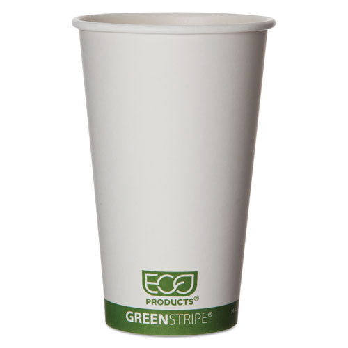 ESECOEPBHC16GS - Greenstripe Renewable & Compostable Hot Cups - 16 Oz., 50-pk, 20 Pk-ct