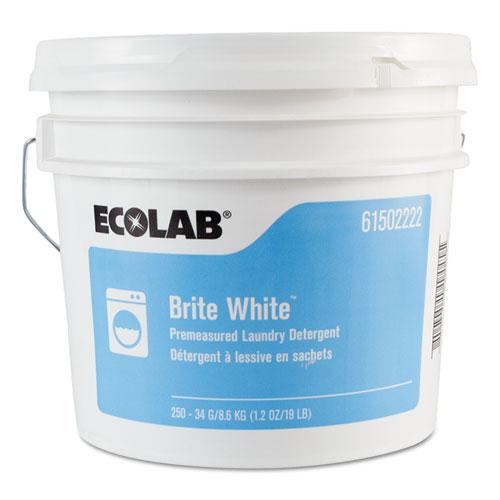 ESELB6102222 - Brite White Np Laundry Detergent, Fresh, 1.2oz Packets, 250 Packets-pail
