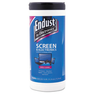 ESEND11506 - Antistatic Cleaning Wipes, Premoistened, 70-canister