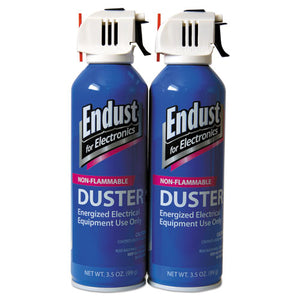 ESEND246050 - Non-Flammable Duster With Bitterant, 3.5 Oz, 2 Cans-pack