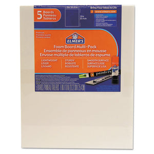 ESEPI950020 - White Pre-Cut Foam Board Multi-Packs, 8 X 10, 5-pk