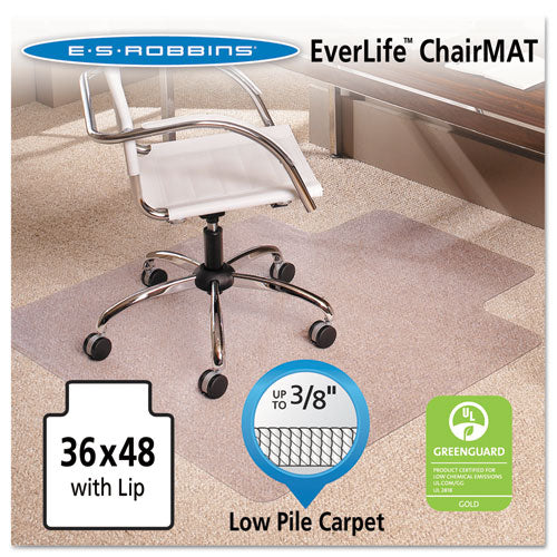 ESESR128073 - 36x48 Lip Chair Mat, Multi-Task Series Anchorbar For Carpet Up To 3-8""