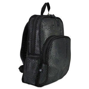 ESEST113960BJBLK - Mesh Backpack, 12 X 5 1-2 X 17 1-2, Black