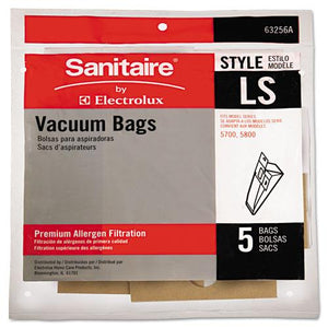 ESEUR63256A10 - Commercial Upright Vacuum Cleaner Replacement Bags, Style Ls, 5-pack