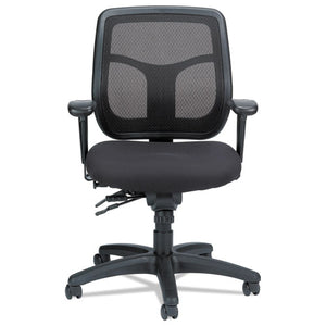 ESEUTMFT945SL - Apollo Multi-Function Mesh Task Chair, Silver Fabric Seat-silver Mesh Back