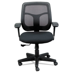 ESEUTMT9400BK - Apollo Mid-Back Mesh Chair, Black Seat-black Back