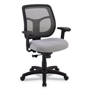 ESEUTMT9400SR - Apollo Mid-Back Mesh Chair, Silver Seat-silver Back