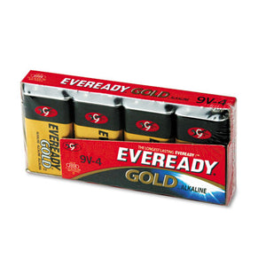 ESEVEA5224 - Gold Alkaline Batteries, 9v, 4 -pk