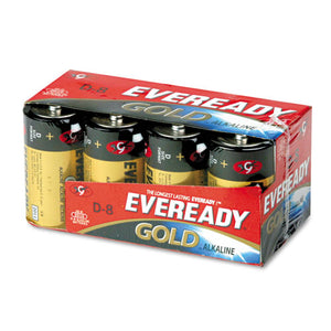 ESEVEA958 - Gold Alkaline Batteries, D, 8 -pk