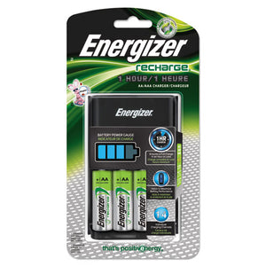 ESEVECH1HRWB4 - Recharge 1 Hour Charger, Aa Or Aaa Nimh Batteries, 3 Per Carton