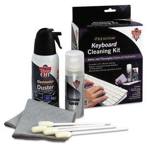 "ESFALDCKB - Premium Keyboard Cleaning Kit, 50 Ml Bottle, 5 1-4"" X 7 1-2"" Cloth, 4 Swabs"