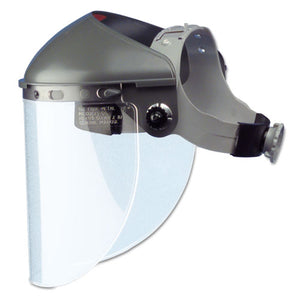 "ESFBRF400 - High Performance Face Shield Assembly, 4"" Crown Ratchet, Noryl, Gray"