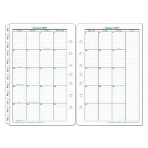 ESFDP35399 - ORIGINAL DATED MONTHLY PLANNER REFILL, JANUARY-DECEMBER, 5 1-2 X 8 1-2, 2019