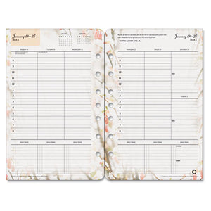 ESFDP35448 - BLOOMS DATED WEEKLY-MONTHLY PLANNER REFILL, JAN.-DEC., 5 1-2 X 8 1-2, 2019