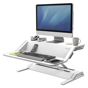 ESFEL0009901 - Lotus Sit-Stand Workstation, 32 3-4 X 24 1-4 X 5 1-2 To 22 1-2, White