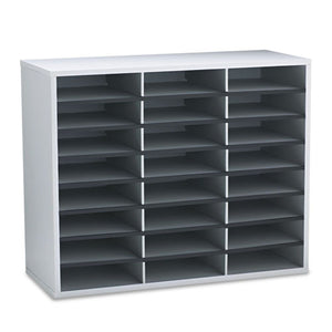 ESFEL25041 - Literature Organizer, 24 Letter Sections, 29 X 11 7-8 X 23 7-16, Dove Gray