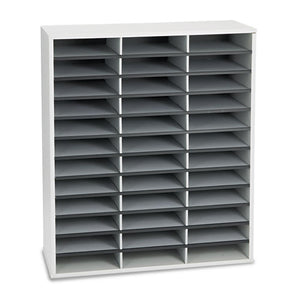 ESFEL25061 - Literature Organizer, 36 Sections Letter, 29 X 11 7-8 X 34 11-16, Dove Gray