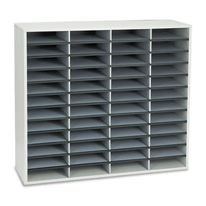 ESFEL25081 - Literature Organizer, 48 Letter Sections, 38 1-4 X 11 7-8 X 34 11-16, Dove Gray