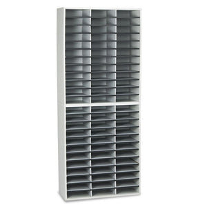 ESFEL25121 - Literature Organizer, 72 Letter Sections, 29 X 11 7-8 X 69 1-8, Dove Gray