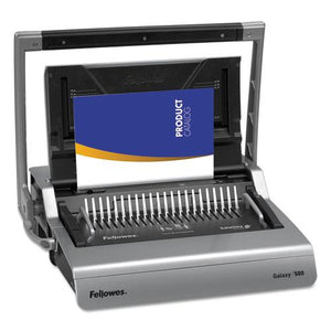 ESFEL5218201 - Galaxy 500 Manual Comb Binding System, 500 Sheets, 20 7-8 X 17 3-4 X 6 1-2, Gray