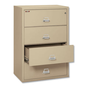 ESFIR43822CPA - FOUR-DRAWER LATERAL FILE, 37 1-2W X 22 1-8D, LETTER-LEGAL, PARCHMENT