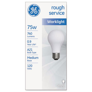 ESGEL18274 - Rough Service Incandescent Worklight Bulb, A21, 75 W, 1230 Lm