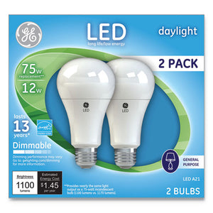 ESGEL66117 - LED DAYLIGHT A21 DIMMABLE LIGHT BULB, 12W, 2-PACK