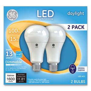 ESGEL66133 - LED DAYLIGHT A21 DIMMABLE LIGHT BULB, 15W, 2-PACK