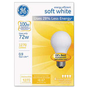 ESGEL66249 - Halogen Bulb, Globe, 72 Watts, Soft White, 4-pack