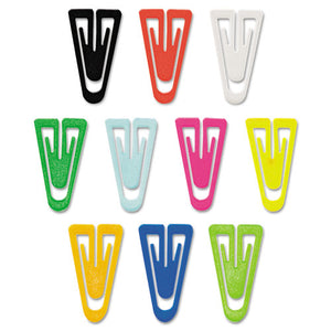 "ESGEMPC0600 - Paper Clips, Plastic, Large (1-3-8""), Assorted Colors, 200-box"