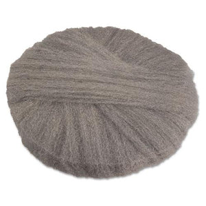 "ESGMA120182 - Radial Steel Wool Pads, Grade 2 (coarse): Stripping-scrubbing, 18"", Gray, 12-ct"