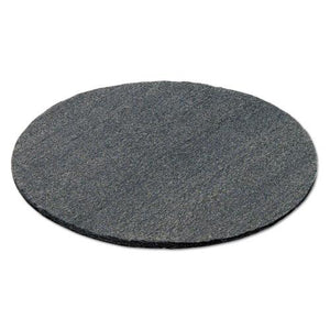 "ESGMA120190 - Radial Steel Wool Pads, Grade 0 (fine): Cleaning & Polishing, 19"", Gray, 12-ct"