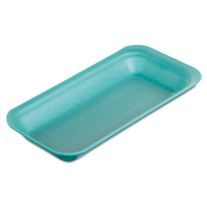 "ESGNP1115GN - Supermarket Trays, Foam, Green, 8 3-8"" X 3 3-8 X 7-8"", 500-carton"