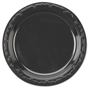 ESGNPBLK07 - Silhouette Plastic Dinnerware, Plate, 7in, Black, 100-pack, 10 Packs-carton