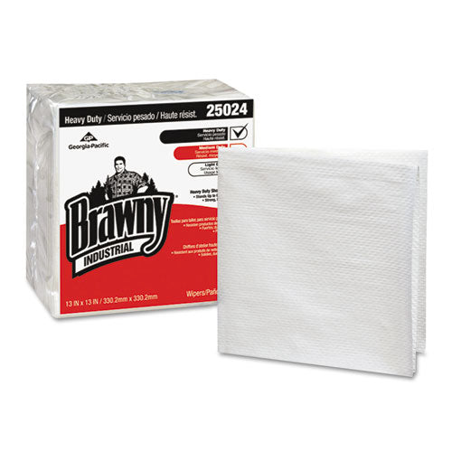 ESGPC25024 - Brawny Industrial Heavy Duty Qrtrfld Shop Towels, 13x13, White 70-pk 12 Pk-ct