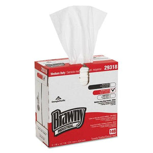 ESGPC29318 - Light Weight Hef Disposable Shop Towels, 9.1 X 16.7, White, 148-box, 10-carton