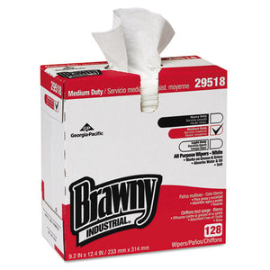 ESGPC29518CT - Brawny Ind. Airlaid Med-Duty Wipers, Cloth, 9 1-5 X 12 2-5, We, 128-bx, 10 Bx-ct